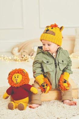 Rory the Lion Toy, Hat and Mittens in Stylecraft Special DK & Bellissima - 9868 - Downloadable PDF