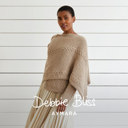 """Ella"" - Jacket Knitting Pattern For Women in Debbie Bliss Aymara by Debbie Bliss in Debbie Bliss - DB328 - Downloadable PDF"
