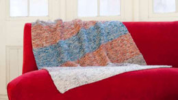 Garter Stripe Throw in Plymouth Coffee Beenz - F566