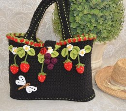 Faerie Strawberry Tote Bag / Basket