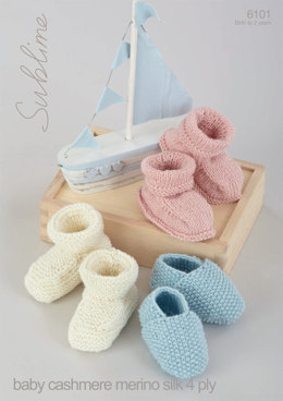 Shoes and Bootees in Sublime Baby Cashmere Merino Silk 4Ply - 6101 - Downloadable PDF