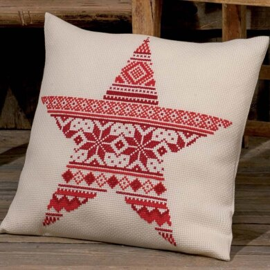 Permin Christmas Pattern Cushion Cross Stitch Kit - 41cm x 40cm