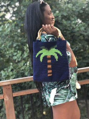 Palm Tree Tapestry Bag