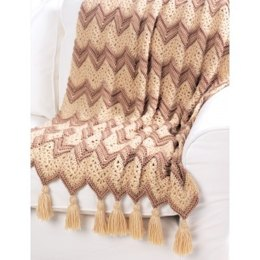 Ripple Beige Afghan in Bernat Satin