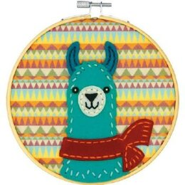 Dimensions Friendly Llama Felt Applique Kit - Multi