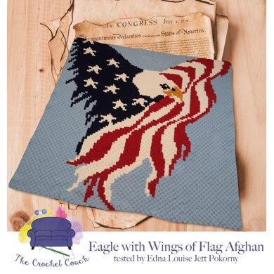 Eagle with Wings of Flag Afghan