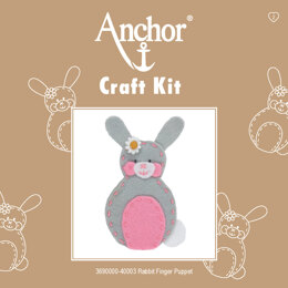 Anchor Rabbit Finger Puppet Embroidery Kit