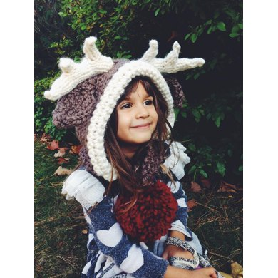 Rudolph Knitting Pattern : Rudolph the Reindeer Hooded Scarf Knitting Crochet pattern by Two of Wands ...