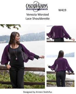 Lace Shoulderette in Cascade Venezia Worsted - W419
