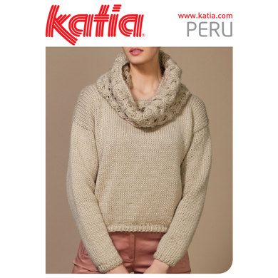 Ladies Jumper in Katia Peru - 21