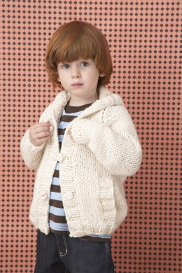 Knit Child's Raglan Cardigan in Lion Brand Wool-Ease Chunky - 60488A