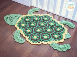 Bubbles the Turtle Crochet Rug Pattern