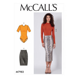 McCall's Misses' Tops and Skirts M7983 - Sewing Pattern