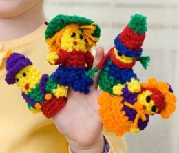 Little Finger Puppets in Red Heart Super Saver Economy Solids - LW2501