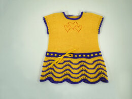 Hearts Knit Together Baby Dress in Cascade Yarns Heritage Solids - FW238 - Downloadable PDF