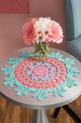 Wisteria Doily in Aunt Lydia's Classic Crochet Thread Size 10 Solids - LC4646 - Downloadable PDF