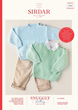 Children's Sweaters in Sirdar Snuggly Soothing DK - 5343 - Leaflet
