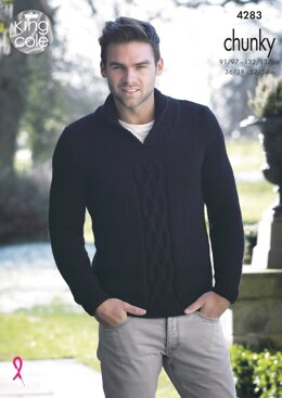Mens Sweater & Slipover in King Cole New Magnum Chunky - 4283 - Downloadable PDF