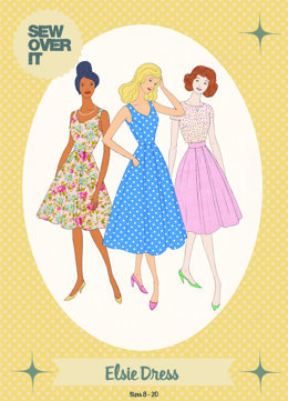 Sew Over It Elsie Dress - Downloadable PDF, Size UK 8-20