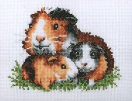 Pako Guinea Pigs Cross Stitch Kit - 13cm x 17cm