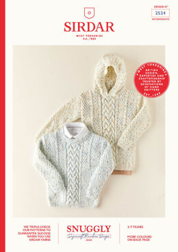 Children's Hooded Sweater & Sweater in Sirdar Snuggly Supersoft Rainbowdrops Aran - 2524 - Leaflet