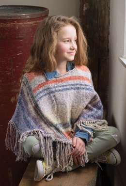 Fern Poncho in Berroco Pixel - 397-3 - Downloadable PDF