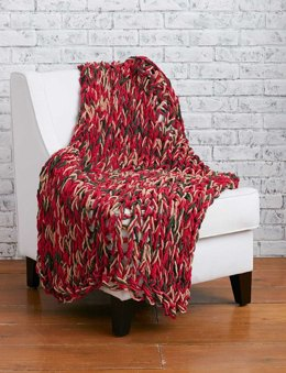 Arm Knit 3-Hour Holiday Blanket in Bernat Blanket Holiday