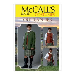 McCall's Men's Costume M7736 - Sewing Pattern