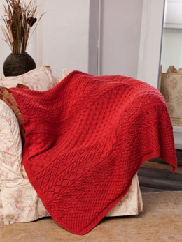 Lace Panel Throw in Caron Simply Soft - Downloadable PDF