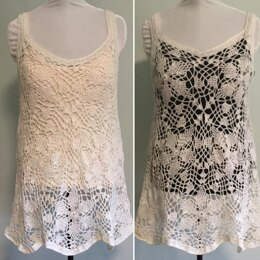 Floral Lace Tunic Tank Top