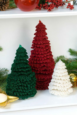 Ruffle Fir Trees in Red Heart Holiday - LW2246EN - Downloadable PDF