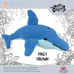Creative World of Crafts Knitty Critters Finley Dolphine - 52cm