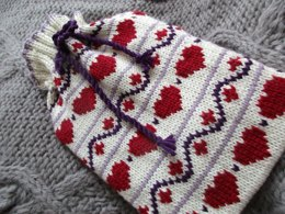 Hearts Hot Water Bottle Cover