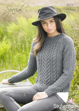 Womens' Cable Sweater in Stylecraft Special Aran