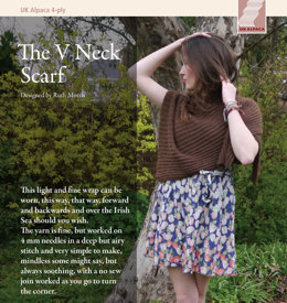 V Neck Scarf in UK Alpaca Baby Alpaca Merino 4 Ply - Downloadable PDF