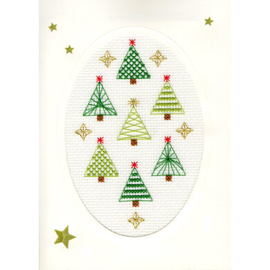 Bothy Threads Christmas Forest Cross Stitch Card Kit - 9cm x 13cm