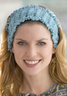 Soft Shine Headband in Red Heart Stardust - LW2540 - Downloadable PDF