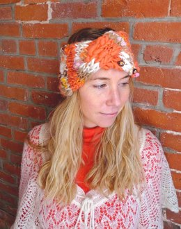 Turban Headband in Knit Collage Gypsy Garden and Sister Yarn