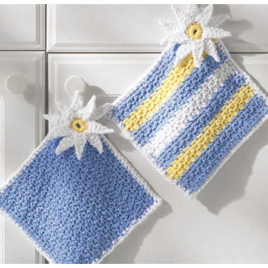 Pot Holders in Lily Sugar 'n Cream Solids