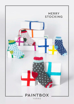 Merry Stocking in Paintbox Yarns Simply DK - DK-XMAS-KNIT-002 - Downloadable PDF