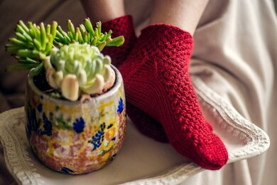 Red Moss Socks