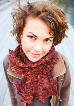 Picot Tricot Scarf in Knit One Crochet Too Crock-O-Dye - 1858