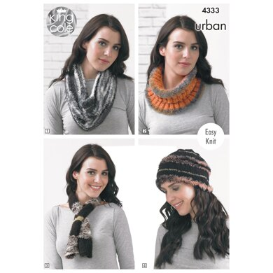 Snood/Cowl, Neck Roll, Beannie, Scarf, Neck Wrap, Shoulder Wrap, Muffler in King Cole Urban - 4333 - Downloadable PDF