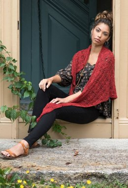 Caravel Shawl in Berroco Quinoa - 395-6 - Downloadable PDF