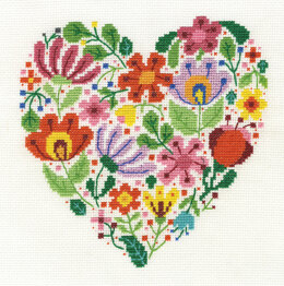 DMC Bouquet of Love 14 Count Cross Stitch Kit