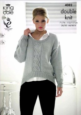 Sweater and Cardigan in King Cole Glitz DK  - 4082