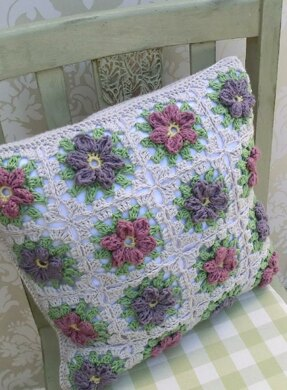Floral Granny Square Pillow