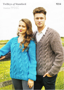 Cabled Front Sweater in Twilleys Freedom Wool