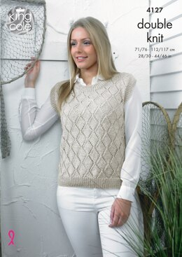 Sweater and Top in King Cole Authentic DK - 4127 - Downloadable PDF