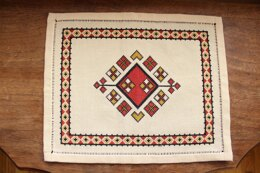 Avlea Folk Embroidery Anatolian Argyle Table Mat - Downloadable PDF